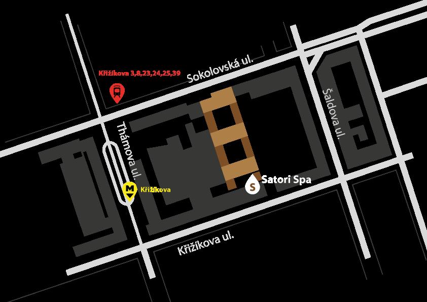 Satori Spa Mapa